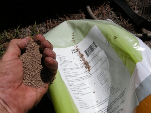 "Feed the soil. Organic ""Verdanta"" 7-6-12."