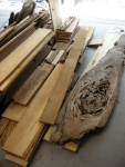 Stack of rough cypress lumber bought from Florida Cypress, Jacksonville.