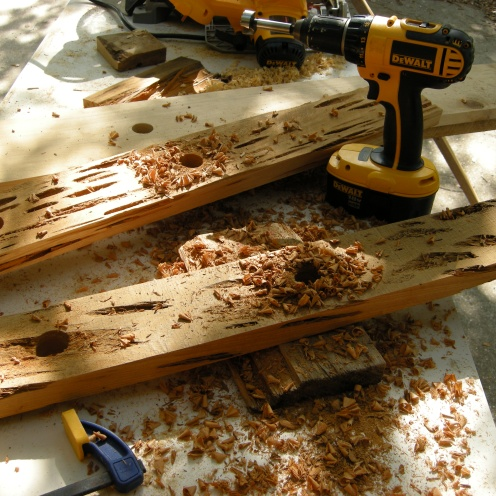 Pecky cypress is easy to drill.