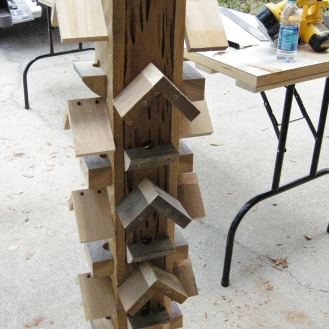 Little roofs over the perches should keep out some rain.