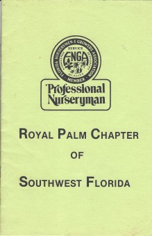 Royal Palm plant finder 1985