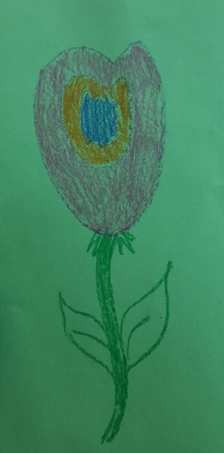 Gardening brought out the artist in several students.