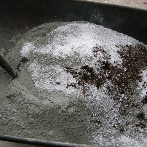 2 parts cement, 3 parts peat, 3 parts perlite.