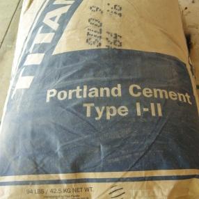 Portland cement...not concrete.