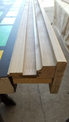 These will have a flat bottom to resemble a window sill.