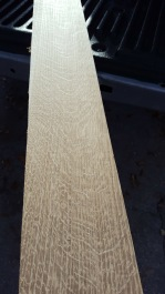 For the frame I started with a rough-sawn oak board.