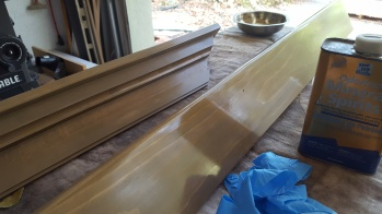 Mistake: I put one coat of Danish oil over the lacquer but it would not dry. I had to remove it with mineral spirits.