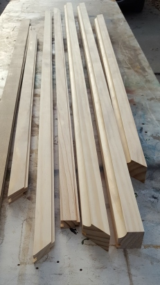 Then rout more parts to accept the oak strips.