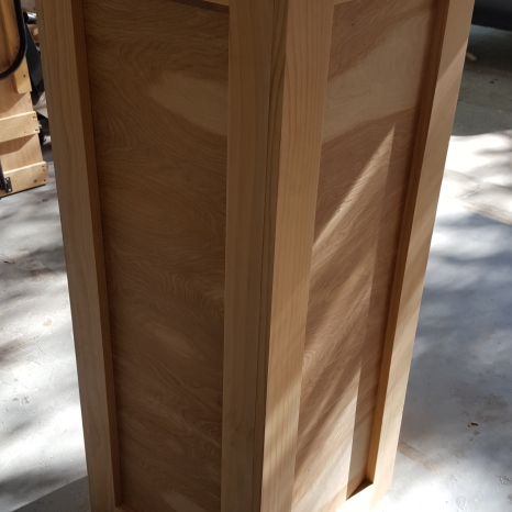 This base will hold twelve drawers. It will rotate on a lazy Susan.