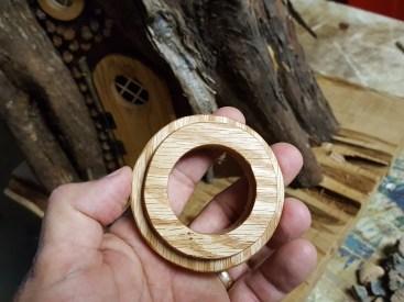 Danish oil brings out the grain of oak.