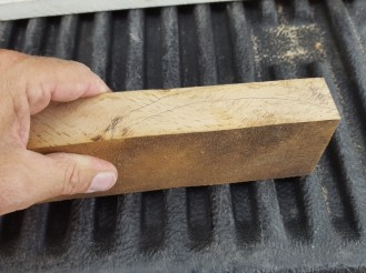 """I jig-sawed a 1""""thick oak board to make the three roof awnings."""