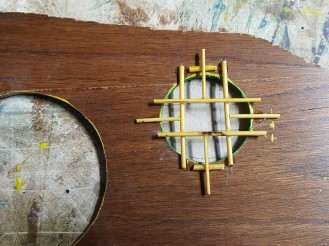 This first attempt of window panes failed because the bamboo was fresh and the waxy outerlayer would not accept epoxy.