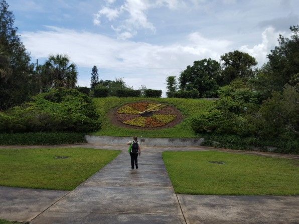 Floral clock at Leu Gardens installed in 1971.