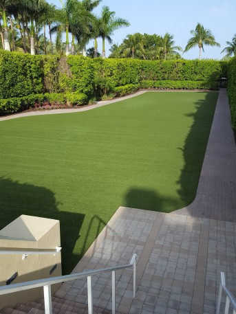 Too good to be real. I'm a little puzzled why this artificial turf had sprinklers.