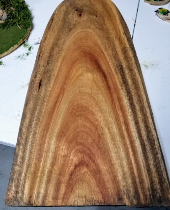 Danish oil brings out the grain.