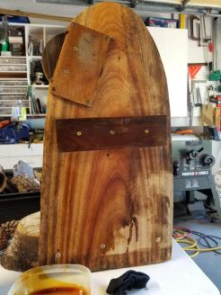 Nearly done with Teak oil.
